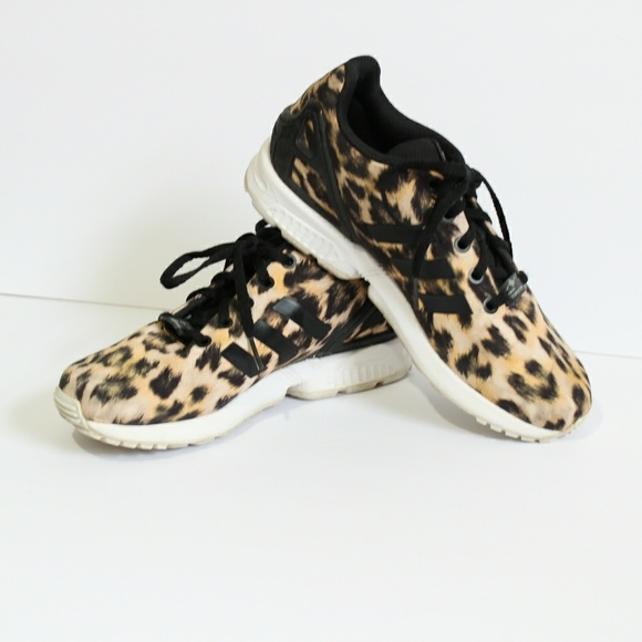 5574edc2ad3eb adidas Shoes - Adidas ZX Flux torsion leopard print sneakers